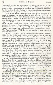 "Report about the work done by the ""Friends in Europe"", London 1946, here: Germany"