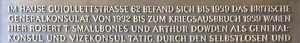 Gedenktafel in der Guiollettstrasse/Ecke Feuerbachstrasse,