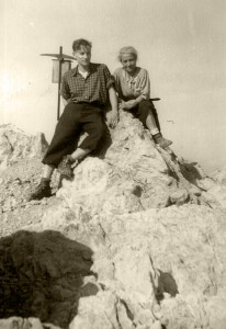 Maria Schaefer and her son Jürg. Maria Schaefer's son Klaus photographed while on a hike on the Spitz-Kofl in Austria in 1943. © Dr. Klaus Schaefer