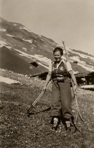 Luise Wetter, Helferin des Netzwerks in der Schweiz. (Aufnahme: ohne Datum) © Dieter Welke